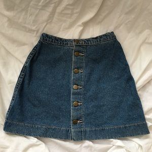 AA DENIM MINI SKIRT